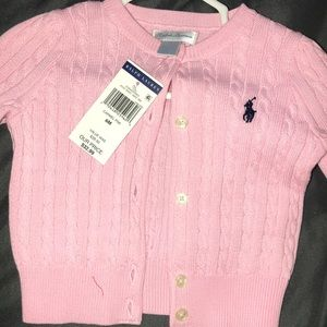 Little girls Ralph Lauren cardigan